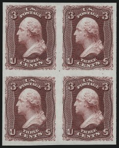 Sale Number 1077, Lot Number 3, Essays and Proofs3c Lake, Plate Proof on India (66P3), 3c Lake, Plate Proof on India (66P3)