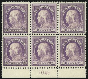 Sale Number 1077, Lot Number 305, 1916-19 Issues (Scott 462-524)50c Red Violet (517), 50c Red Violet (517)
