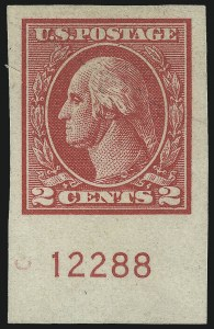 Sale Number 1077, Lot Number 312, 1917-22 Issues (Scott 481-573)2c Carmine, Ty. VII, Imperforate (534B), 2c Carmine, Ty. VII, Imperforate (534B)