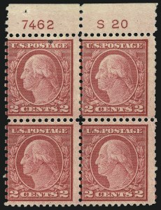 Sale Number 1077, Lot Number 316, 1917-22 Issues (Scott 481-573)2c Carmine Rose, Ty. II, Rotary Perf 11 x 10 (539), 2c Carmine Rose, Ty. II, Rotary Perf 11 x 10 (539)