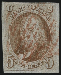 Sale Number 1077, Lot Number 33, 1847 Issue and 1875 Reproduction (Scott 1-4)5c Orange Brown (1b), 5c Orange Brown (1b)
