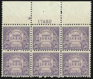 Sale Number 1077, Lot Number 333, 1917-22 Issues (Scott 481-573)50c Lilac (570), 50c Lilac (570)