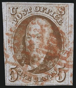 Sale Number 1077, Lot Number 34, 1847 Issue and 1875 Reproduction (Scott 1-4)5c Orange Brown (1b), 5c Orange Brown (1b)