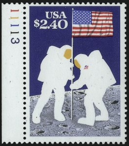 Sale Number 1077, Lot Number 344, Later Issues (Scott 599-3829)$2.40 Moon Landing, Black (engr.) Omitted (2419a), $2.40 Moon Landing, Black (engr.) Omitted (2419a)