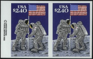 Sale Number 1077, Lot Number 345, Later Issues (Scott 599-3829)$2.40 Moon Landing, Imperforate Pair (2419b), $2.40 Moon Landing, Imperforate Pair (2419b)