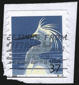 Sale Number 1077, Lot Number 346, Later Issues (Scott 599-3829)37c Snowy Egret (3829), 37c Snowy Egret (3829)