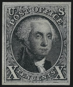 Sale Number 1077, Lot Number 41, 1847 Issue and 1875 Reproduction (Scott 1-4)10c Black, Reproduction (4), 10c Black, Reproduction (4)