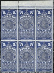 Sale Number 1077, Lot Number 454, Newspapers and Periodicals (PR)5c Dull Blue, 1875 Reprint (PR5), 5c Dull Blue, 1875 Reprint (PR5)