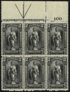 Sale Number 1077, Lot Number 458, Newspapers and Periodicals (PR)2c Black, 1895 Issue (PR103), 2c Black, 1895 Issue (PR103)