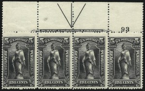 Sale Number 1077, Lot Number 459, Newspapers and Periodicals (PR)5c Black, 1895 Issue (PR104), 5c Black, 1895 Issue (PR104)