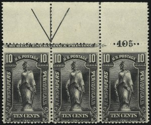 Sale Number 1077, Lot Number 460, Newspapers and Periodicals (PR)10c Black, 1895 Issue (PR105), 10c Black, 1895 Issue (PR105)