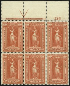 Sale Number 1077, Lot Number 466, Newspapers and Periodicals (PR)$2.00 Scarlet, 1895 Watermarked Issue (PR120), $2.00 Scarlet, 1895 Watermarked Issue (PR120)