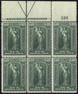 Sale Number 1077, Lot Number 468, Newspapers and Periodicals (PR)$10.00 Green, 1895 Watermarked Issue (PR122), $10.00 Green, 1895 Watermarked Issue (PR122)