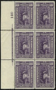 Sale Number 1077, Lot Number 472, Newspapers and Periodicals (PR)$100.00 Purple, 1895 Watermarked Issue (PR125), $100.00 Purple, 1895 Watermarked Issue (PR125)