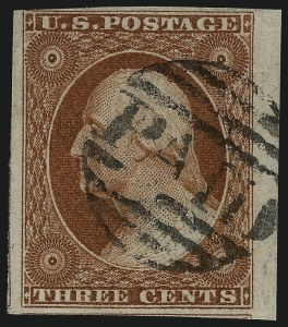 Sale Number 1077, Lot Number 48, 1851-56 Issue (Scott 5-17)3c Orange Brown, Ty. I, II (10, 10A), 3c Orange Brown, Ty. I, II (10, 10A)