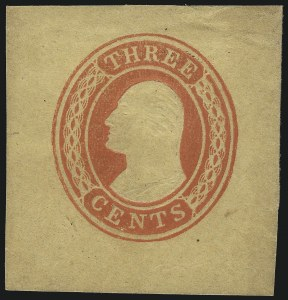 Sale Number 1077, Lot Number 485, Postal Stationery (U, UX)3c Red on Buff, Die 3 (U6), 3c Red on Buff, Die 3 (U6)