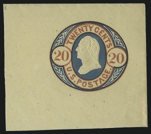 Sale Number 1077, Lot Number 486, Postal Stationery (U, UX)20c Red & Blue on Buff (U43), 20c Red & Blue on Buff (U43)
