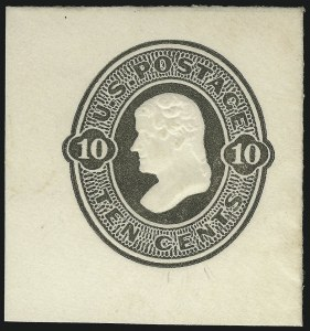 Sale Number 1077, Lot Number 487, Postal Stationery (U, UX)10c Olive Black on White, Die 39 (U89), 10c Olive Black on White, Die 39 (U89)