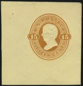 Sale Number 1077, Lot Number 488, Postal Stationery (U, UX)2c Black on Buff, Die 2 (U98), 2c Black on Buff, Die 2 (U98)