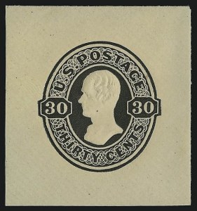 Sale Number 1077, Lot Number 489, Postal Stationery (U, UX)30c Black on White, Amber, Cream (U102-U104), 30c Black on White, Amber, Cream (U102-U104)