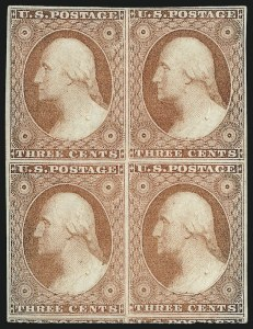 Sale Number 1077, Lot Number 49, 1851-56 Issue (Scott 5-17)3c Dull Red, Ty. II (11A), 3c Dull Red, Ty. II (11A)