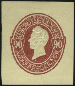 Sale Number 1077, Lot Number 495, Postal Stationery (U, UX)90c Carmine on Cream (U213), 90c Carmine on Cream (U213)