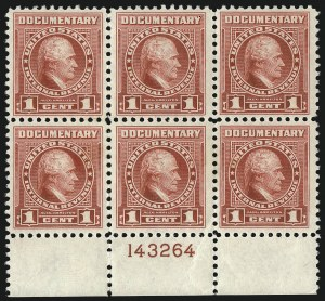 Sale Number 1077, Lot Number 511, Revenues (First Issue thru Stock Transfer)1c Carmine, Series of 1954 Without Ovpt. (R654), 1c Carmine, Series of 1954 Without Ovpt. (R654)