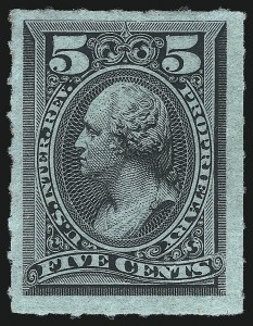 Sale Number 1077, Lot Number 515, Revenues (First Issue thru Stock Transfer)5c Black, Rouletted, Proprietary (RB16c), 5c Black, Rouletted, Proprietary (RB16c)