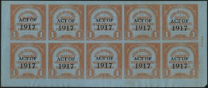 Sale Number 1077, Lot Number 542, Revenues (Beer)1918, ($6.00) Ty. A Surcharge on ($3.00) Red Orange on Blue, 1bbl., Ty. C Surcharge, No. REA125c, Beer (REA145), 1918, ($6.00) Ty. A Surcharge on ($3.00) Red Orange on Blue, 1bbl., Ty. C Surcharge, No. REA125c, Beer (REA145)