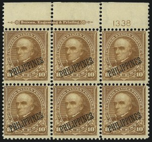 Sale Number 1077, Lot Number 589, U.S. Possessions (Philippines)PHILIPPINES, 1899, 10c Orange Brown, Ty. II (217A), PHILIPPINES, 1899, 10c Orange Brown, Ty. II (217A)