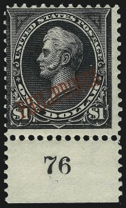 Sale Number 1077, Lot Number 590, U.S. Possessions (Philippines)PHILIPPINES, 1901, $1.00 Black, Ty. II (223A), PHILIPPINES, 1901, $1.00 Black, Ty. II (223A)