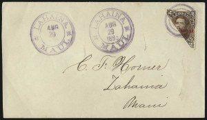 Sale Number 1077, Lot Number 753, Hawaii (Postage Issues)HAWAII, Bisects, HAWAII, Bisects