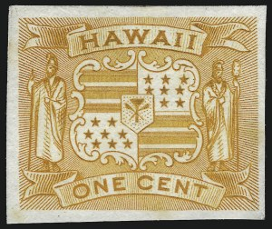 Sale Number 1077, Lot Number 758, Hawaii (Postage Issues)HAWAII, 1894, 1c-25c Final Issue, Plate Proofs on India (74P3-79P3), HAWAII, 1894, 1c-25c Final Issue, Plate Proofs on India (74P3-79P3)