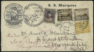 Sale Number 1077, Lot Number 759, Hawaii (Postage Issues)HAWAII, 1894, 1c Yellow, 2c Brown (74, 75), HAWAII, 1894, 1c Yellow, 2c Brown (74, 75)