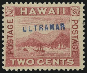 "Sale Number 1077, Lot Number 764, Hawaii (Postage Issues)HAWAII, 1899, 2c Rose, ""Ultramar"" (81S), HAWAII, 1899, 2c Rose, ""Ultramar"" (81S)"
