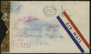 Sale Number 1077, Lot Number 765, Hawaii (Postage Issues)World War II Censored Covers from Hawaii, World War II Censored Covers from Hawaii