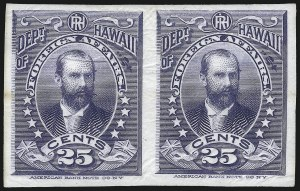Sale Number 1077, Lot Number 766, Hawaii (Officials)HAWAII, 1896, 2c-25c Officials, Plate Proofs on India (O1P3-O6P3), HAWAII, 1896, 2c-25c Officials, Plate Proofs on India (O1P3-O6P3)