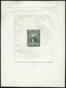 Sale Number 1077, Lot Number 768, Hawaii (Officials)HAWAII, 1896, 2c Green, Large Die Proof on India (O1P1), HAWAII, 1896, 2c Green, Large Die Proof on India (O1P1)