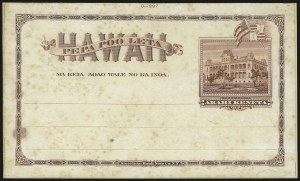 Sale Number 1077, Lot Number 785, Hawaii (Postal Card Essays and Proofs)HAWAII, 1894, 1c Brown, Postal Card Trial Color Plate Proof on India (UX8TC3), HAWAII, 1894, 1c Brown, Postal Card Trial Color Plate Proof on India (UX8TC3)