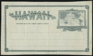 Sale Number 1077, Lot Number 788, Hawaii (Postal Card Essays and Proofs)HAWAII, 1897, 2c Green, Postal Card, Proof on Thin Bond (UX9-P), HAWAII, 1897, 2c Green, Postal Card, Proof on Thin Bond (UX9-P)