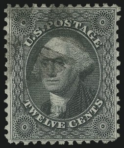 Sale Number 1077, Lot Number 79, 1875 Reprint of 1857-60 Issue (Scott 40-47)12c Greenish Black, Reprint (44), 12c Greenish Black, Reprint (44)