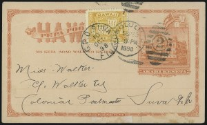 Sale Number 1077, Lot Number 794, Hawaii (Used Postal Cards)HAWAII, 1894, 1c Yellow (74), HAWAII, 1894, 1c Yellow (74)