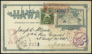 Sale Number 1077, Lot Number 799, Hawaii (Used Postal Cards)HAWAII, 1894, 2c Green Postal Card (UX9), HAWAII, 1894, 2c Green Postal Card (UX9)