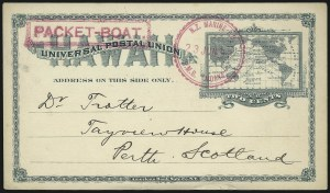 Sale Number 1077, Lot Number 800, Hawaii (Used Postal Cards)HAWAII, 1894, 2c Green Postal Card (UX9), HAWAII, 1894, 2c Green Postal Card (UX9)