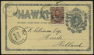 Sale Number 1077, Lot Number 807, Hawaii (Used Postal Cards)HAWAII, 1893, 10c Red Brown, Black Ovpt. (68), HAWAII, 1893, 10c Red Brown, Black Ovpt. (68)