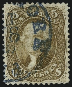 Sale Number 1077, Lot Number 86, 1861-66 Issue (Scott 56-78)5c Buff (67), 5c Buff (67)