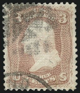 Sale Number 1077, Lot Number 93, 1867-68 Grilled Issue (Scott 79-101)3c Rose, D. Grill (85), 3c Rose, D. Grill (85)