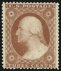 Sale Number 1078, Lot Number 100, 1c-90c 1857-60 Issue (Scott 19-39)3c Dull Red, Ty. III (26). Mint N.H, 3c Dull Red, Ty. III (26). Mint N.H