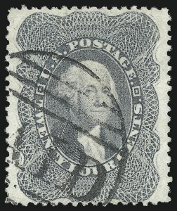 Sale Number 1078, Lot Number 125, 1c-90c 1857-60 Issue (Scott 19-39)24c Gray (37a), 24c Gray (37a)