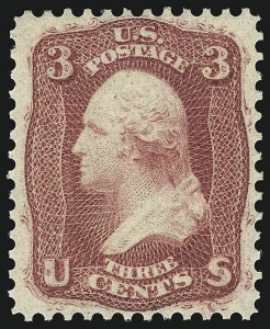 Sale Number 1078, Lot Number 146, 1861-68 Issue (Scott 56-70b)3c Brown Rose, First Design (56). Mint N.H, 3c Brown Rose, First Design (56). Mint N.H